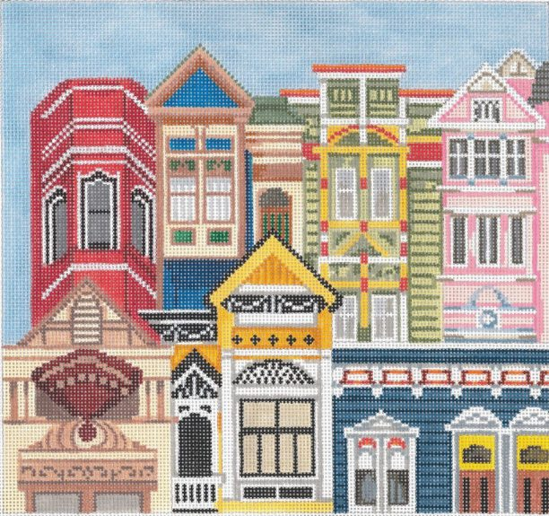 click here to view larger image of Painted Ladies (hand painted canvases)