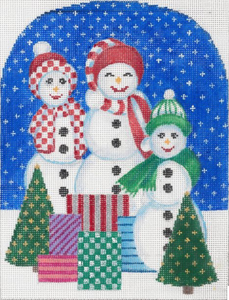 click here to view larger image of Christmas Snowmen (hand painted canvases)