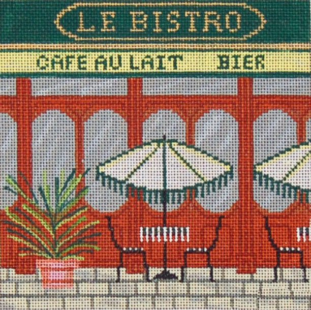 click here to view larger image of French Scenes - Bistro (hand painted canvases)