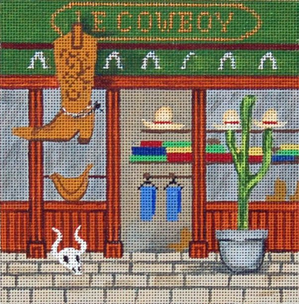 click here to view larger image of French Scenes - Cowboys (hand painted canvases)