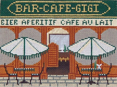 click here to view larger image of French Scenes - Bar Cafe (hand painted canvases)