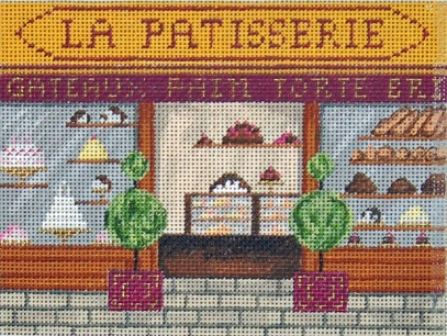 click here to view larger image of French Scenes - La Patisserie (hand painted canvases)
