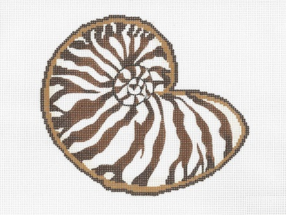 click here to view larger image of Seashell 1 (hand painted canvases)