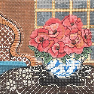 click here to view larger image of Still Life - Roses (hand painted canvases)