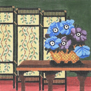 click here to view larger image of Still Life - Blue Anemones (hand painted canvases)