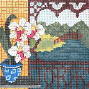 click here to view larger image of Still Life - Japanese Orchids (hand painted canvases)