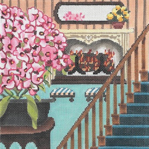 click here to view larger image of Still Life - Pink Phlox (hand painted canvases)