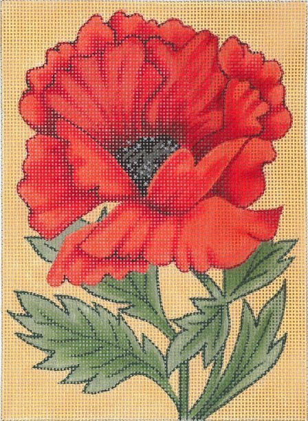 click here to view larger image of Poppy (hand painted canvases)
