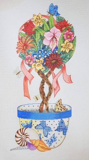 click here to view larger image of Flower Topiary (hand painted canvases)