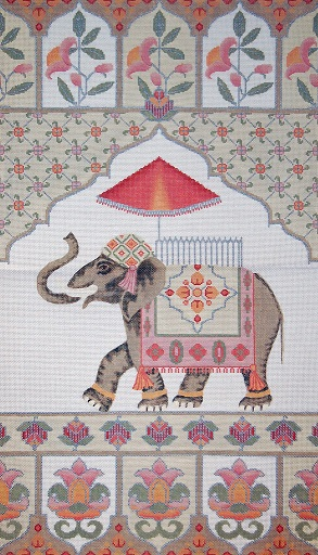 click here to view larger image of Elephant Wall Hanging (hand painted canvases)