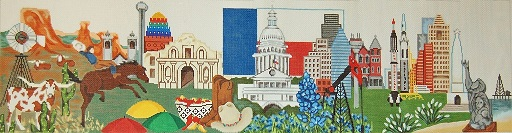 click here to view larger image of Texas Wall Hanging (hand painted canvases)