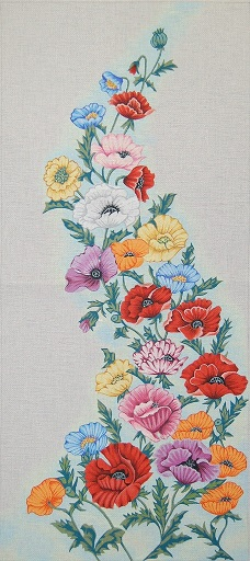 click here to view larger image of Floral Wall Hanging (hand painted canvases)