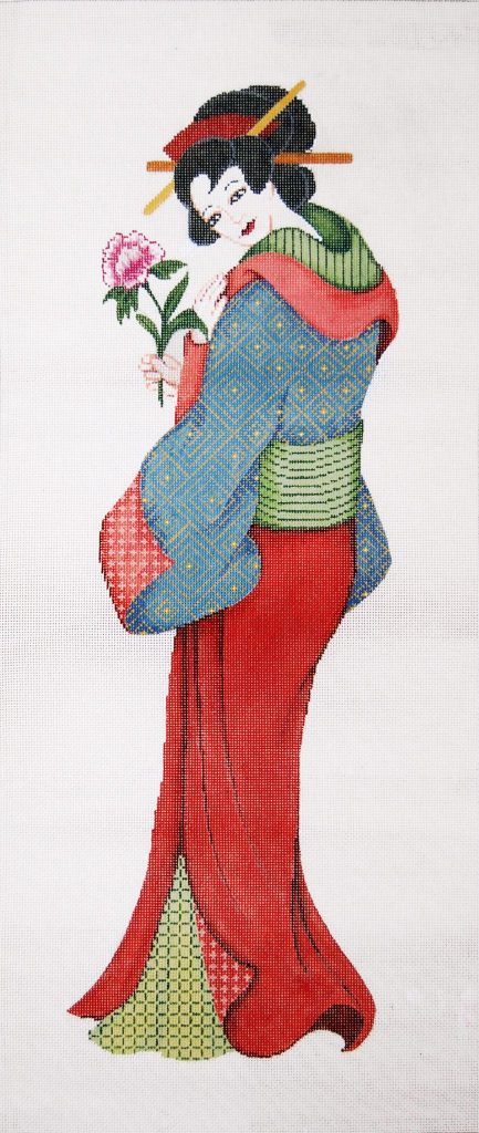 click here to view larger image of Geisha I Wall Hanging (hand painted canvases)
