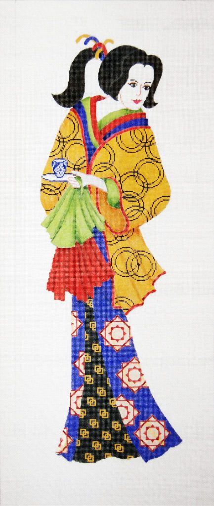 click here to view larger image of Geisha II Wall Hanging (hand painted canvases)