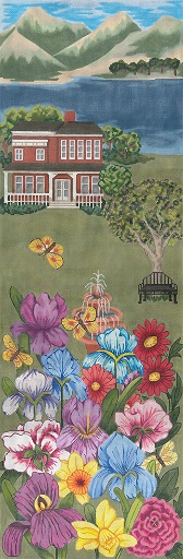 click here to view larger image of Garden at The Lake Wall Hanging (hand painted canvases)