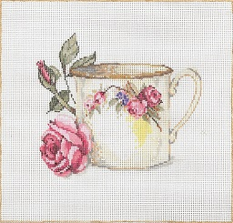 click here to view larger image of Cuppa (hand painted canvases)