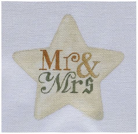 click here to view larger image of Mr & Mrs Star (hand painted canvases)