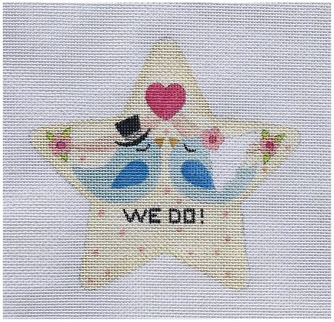 click here to view larger image of We Do Star (hand painted canvases)