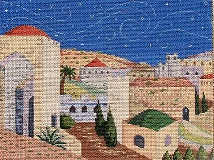 click here to view larger image of Jerusalem (hand painted canvases)