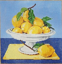 click here to view larger image of Lemons (hand painted canvases)