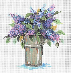 click here to view larger image of Lilacs (hand painted canvases)