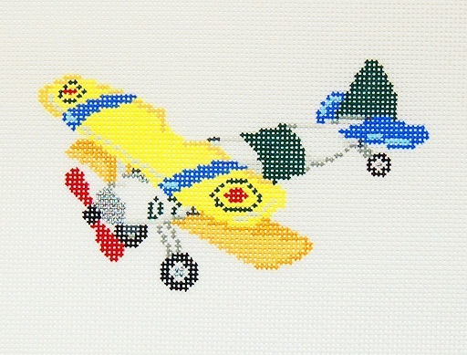 click here to view larger image of Plane Ornament (hand painted canvases)