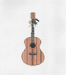 click here to view larger image of Acoustic Guitar Ornament (hand painted canvases)