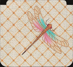 click here to view larger image of Dragonfly Purse (hand painted canvases)