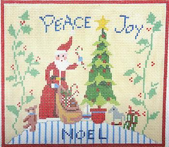 click here to view larger image of Peace and Joy (hand painted canvases)