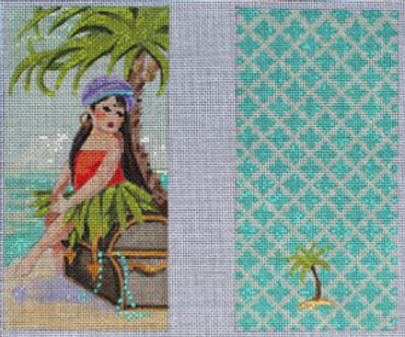 click here to view larger image of Island Lady (hand painted canvases)