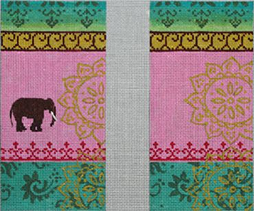 click here to view larger image of Vintage Elephant (hand painted canvases)