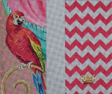 click here to view larger image of Red Parrot (hand painted canvases)