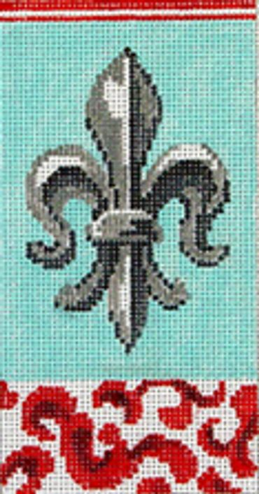 click here to view larger image of Fleur-di-Lis (hand painted canvases)