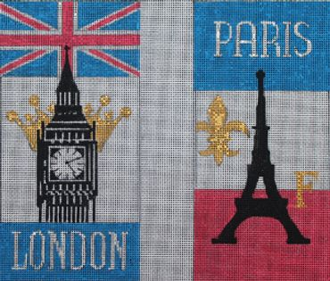 click here to view larger image of London / Paris (hand painted canvases)