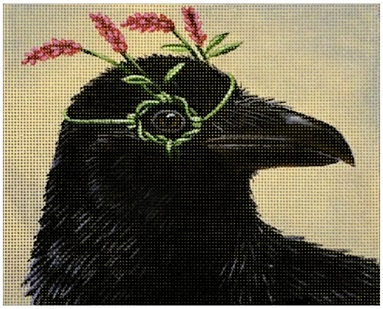 Greta the Raven hand painted canvases