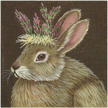click here to view larger image of Asparagus Bunny (hand painted canvases)