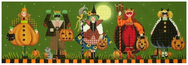 click here to view larger image of Tricker Treaters (hand painted canvases)