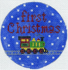 click here to view larger image of First Christmas Train (hand painted canvases)
