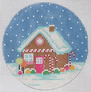 click here to view larger image of Gingerbread House (hand painted canvases)