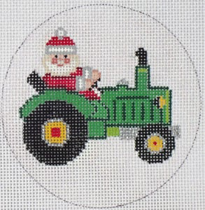 click here to view larger image of Farm Santa (hand painted canvases)