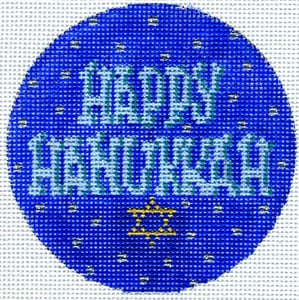 click here to view larger image of Hanukkah (hand painted canvases)