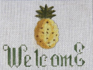 click here to view larger image of Welcome - Pineapple (hand painted canvases)