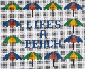 "click here to view larger image of ""Life's A Beach"" (hand painted canvases)"