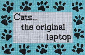 click here to view larger image of Cats the Original Laptop (hand painted canvases)