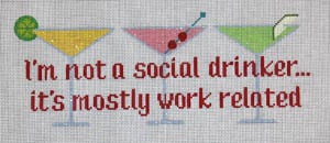 click here to view larger image of I'm not a social drinker… (hand painted canvases)