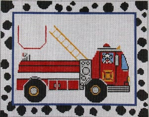 click here to view larger image of Tooth Fairy - Fire Truck (hand painted canvases)