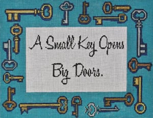 click here to view larger image of As small key opens ... (hand painted canvases)