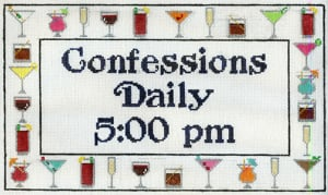 click here to view larger image of Confessions (hand painted canvases)