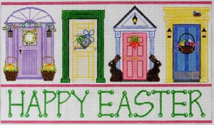 click here to view larger image of Easter Doors (hand painted canvases)