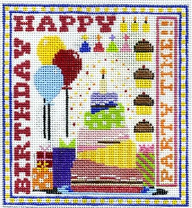 click here to view larger image of Birthday Sampler (hand painted canvases)